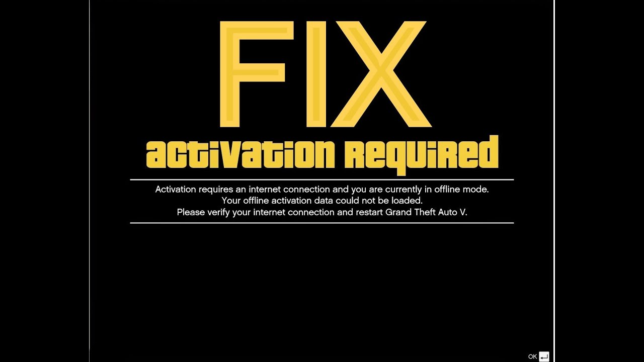 activation required fix