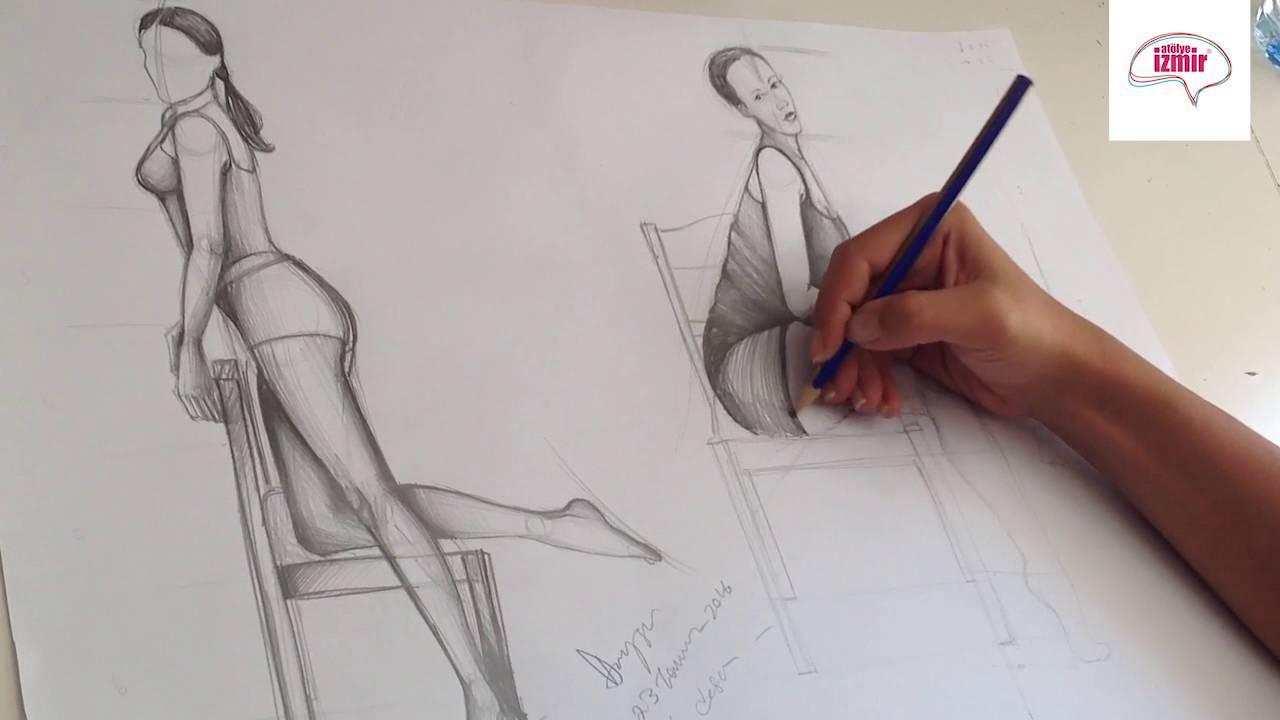Moda Tasarım Stilistlik Karakalem Moda Figürü Youtube