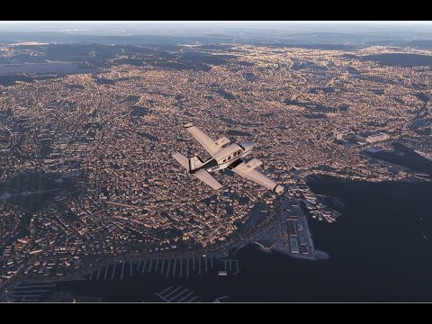 X-plane 11 - Tour of Norway - Part 5: Notodden to Oslo (with Ortho4xp scenery)