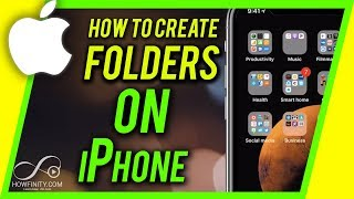 How to Make a FOLDER on iPhone or iPad For Beginners