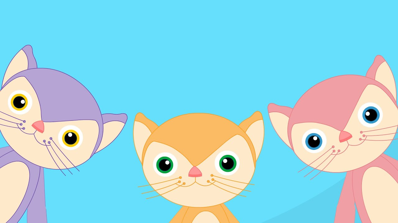 Three Little Kittens Nursery Rhyme Youtube