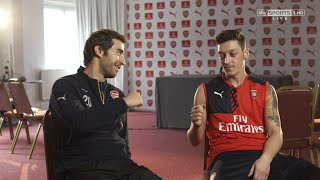 Mesut Özil and Mathieu Flamini about their bromance - Sky Sports Interview