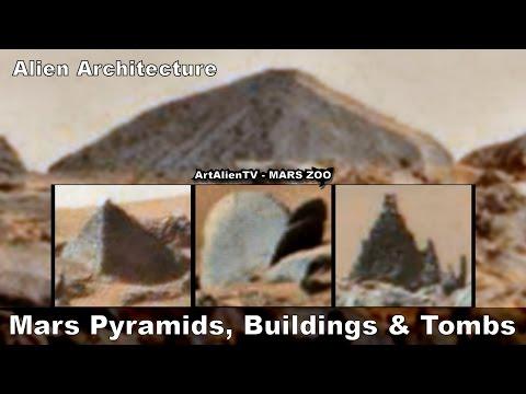 #Mars Pyramids Buildings & Tombs. Intelligent Alien Structures. ArtAlienTV
