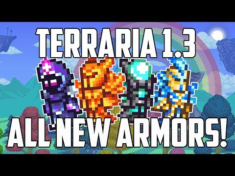 Terraria 1.3 ALL NEW ARMORS PS4 | How to Craft | Solar, Nebula, Vortex, Stardust | PS4