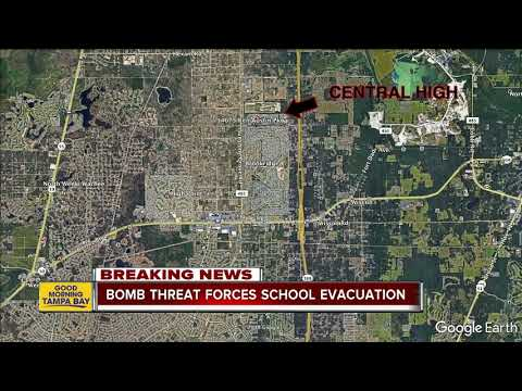 Students evacuated after second bomb threat in two days at Central High School in Hernando Co.