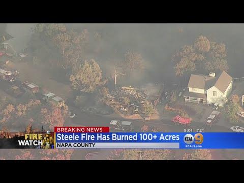 Huge Wild Fires Burning In Napa, Mendocino, Counties