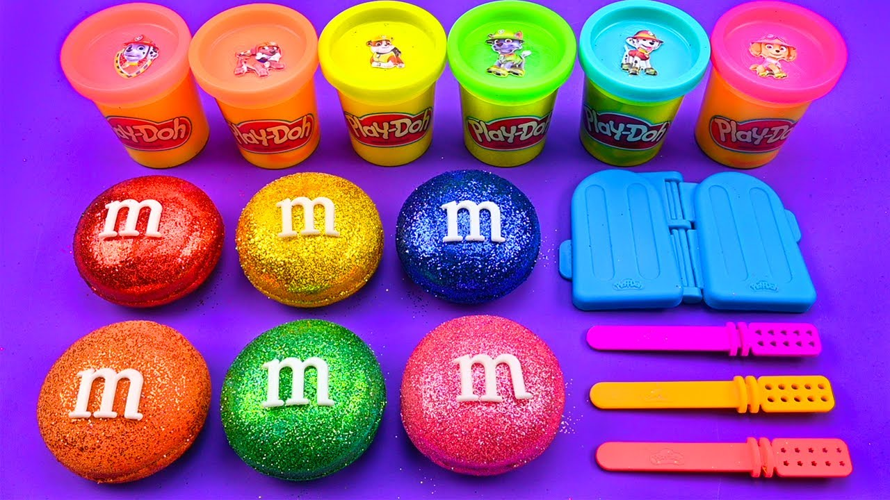 Satisfying Video   How To Make Ice Cream from Clay M&M Candy Glitter ASMR   Zon Zon