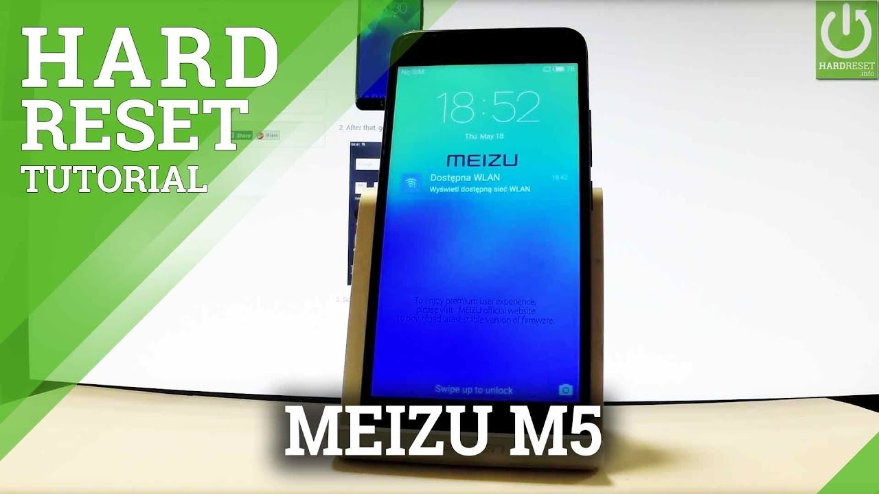 How to Hard Reset MEIZU M5 - Format / Restore MEIZU