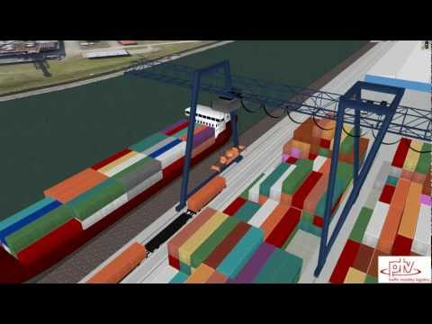 PTV Vissim: Container Terminal and Rail Simulation