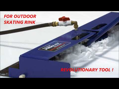 Backyard Ice Rink Resurfacer,  Deluxe Manual Ice Resurfacer For Outdoor Skating Rink