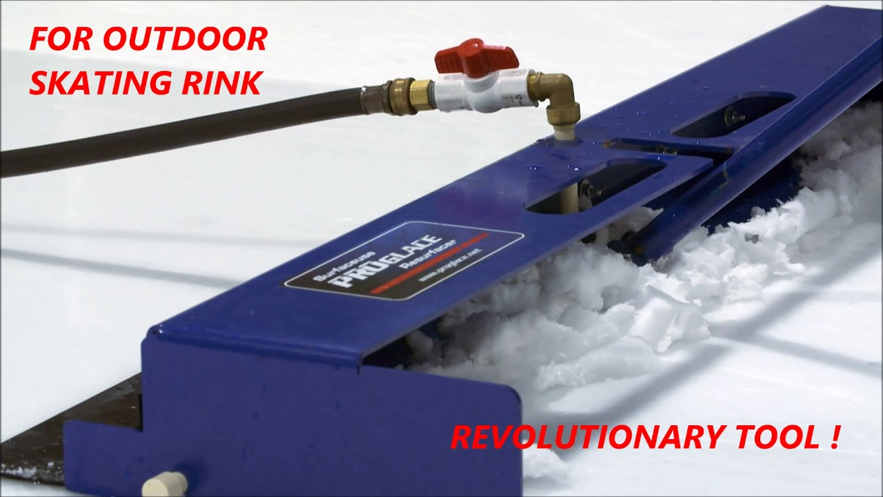 Backyard Ice rink Resurfacer, Deluxe manual ice resurfacer ...