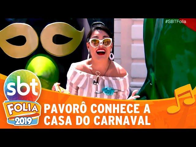Milene Pavorô conhece a Casa do Carnaval | SBT Folia 2019