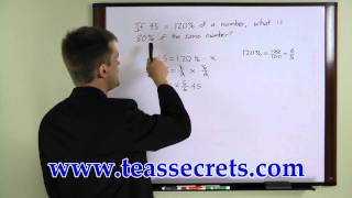 TEAS V Question -  Free Percentages 1