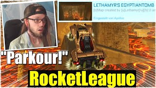 SCHAFFE ICH DEN PHARAO PARKOUR? - Rocket League [Deutsch/German]