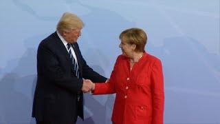 Trump, Putin and Erdogan greeted by Merkel at G20