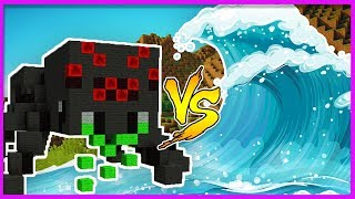 Minecraft - TSUNAMI VS MOBS w/ LittleKelly & Sharky