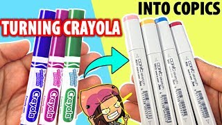 CAN WE TURN CHEAP CRAYOLA MARKERS INTO EXPENSIVE COPIC MARKERS?