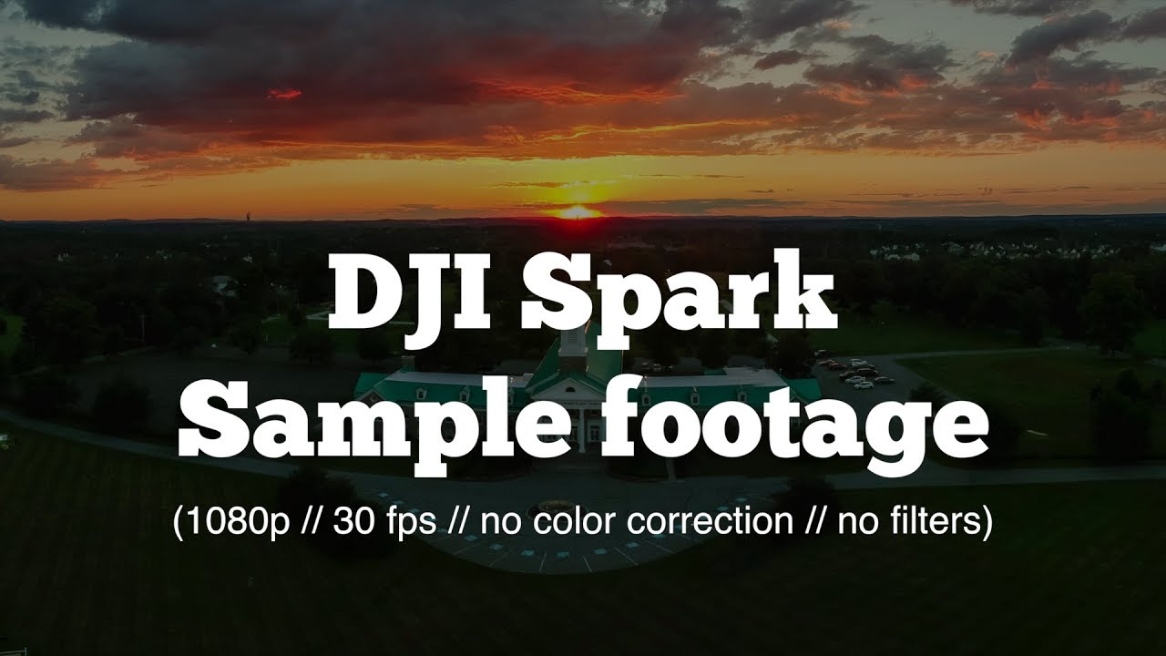 DJI Spark Drone Sample Footage Video Quality Test No Color Correction Filters