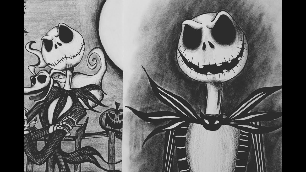 Dibujando a Jack Skellington Drawing Jack Skellington I AILIPS