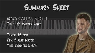 No Matter What (Calum Scott) Piano Keyboard Tutorial