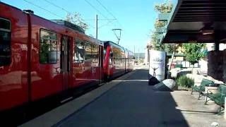 San Diego Trolley stopped in Santee, CA.