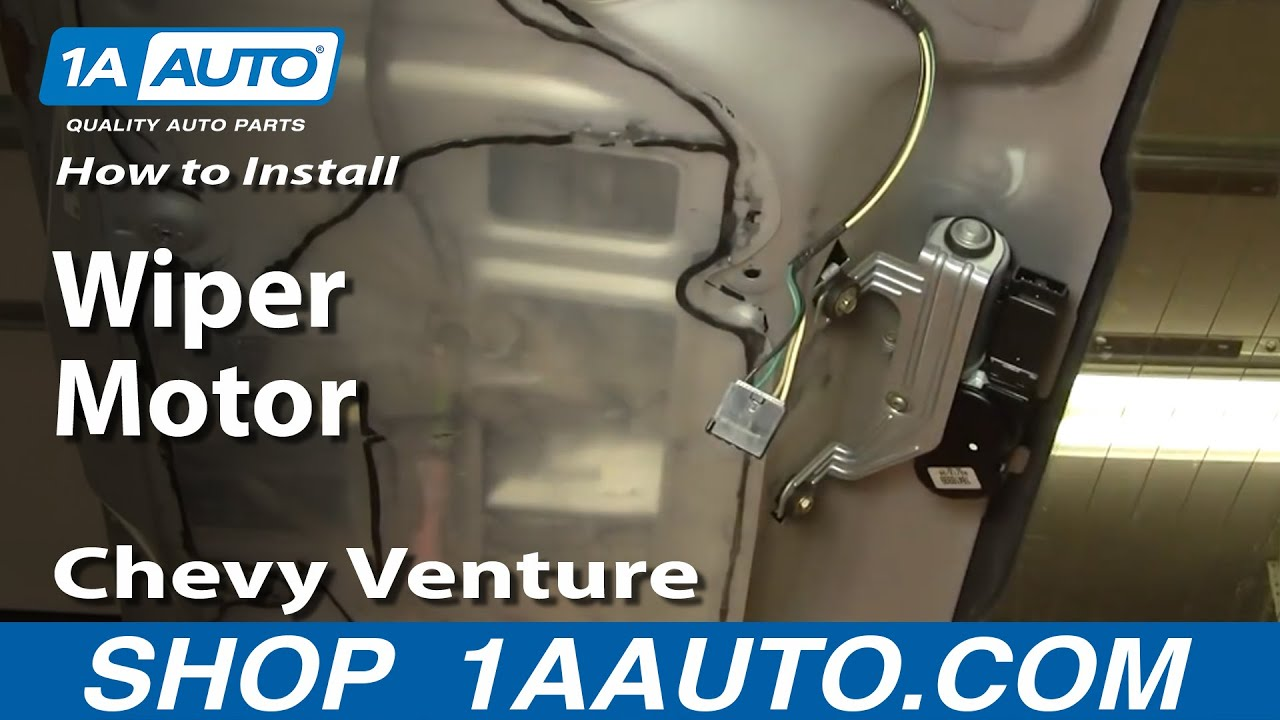 How To Install Replace REAR Wiper Motor Chevy Venture
