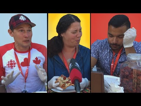 World's hottest pizza challenge