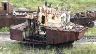 Александровск-Сахалинский. Умирающий  порт и маяк 08.2017.