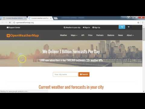Build Weather App With Ajax Using Open Weather Map API: Current Weather Ajax Request