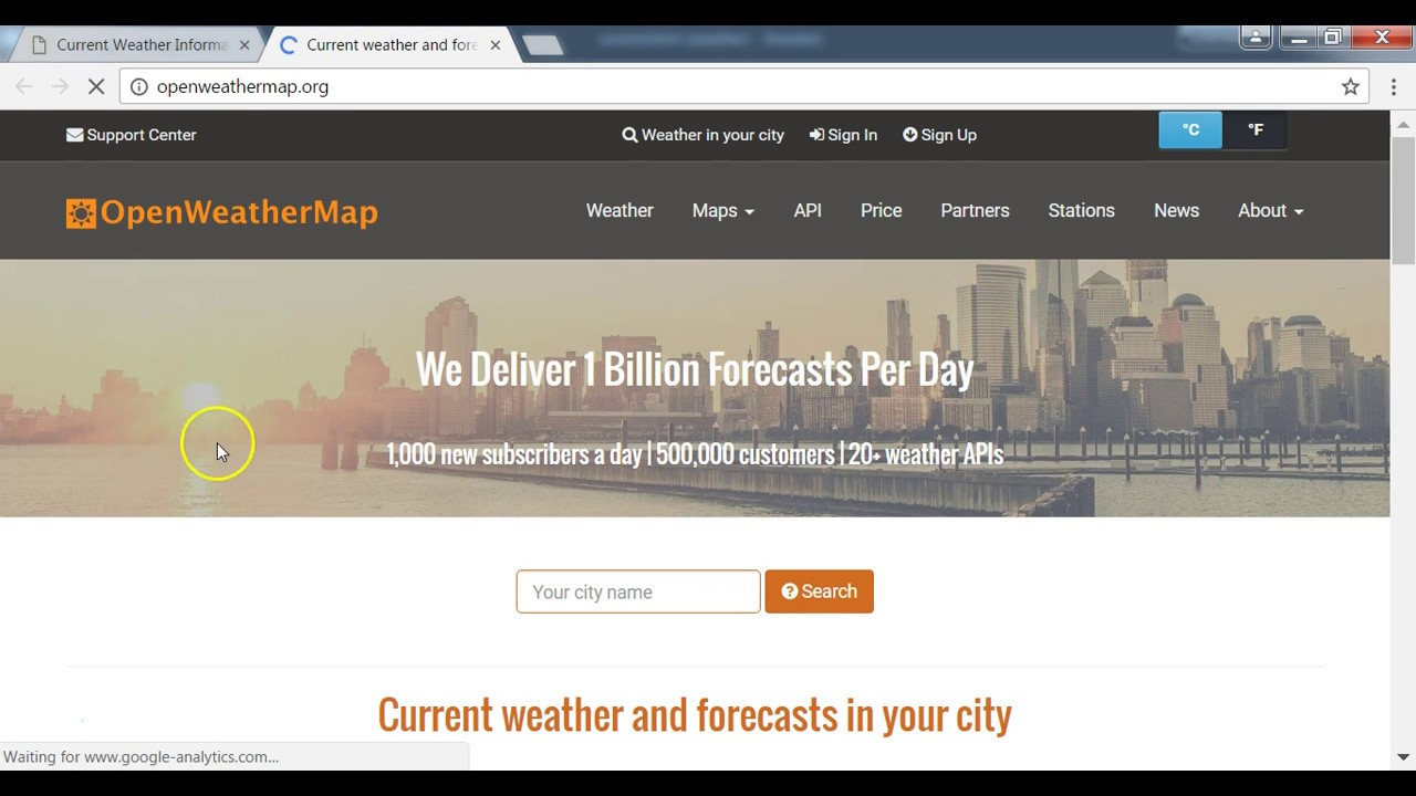 Build Weather App With Ajax Using Open Weather Map Api Current