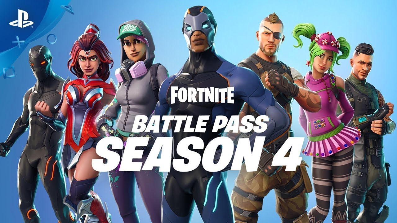 Fortnite Battle Pass Season 4 Launch Trailer Ps4 Youtube