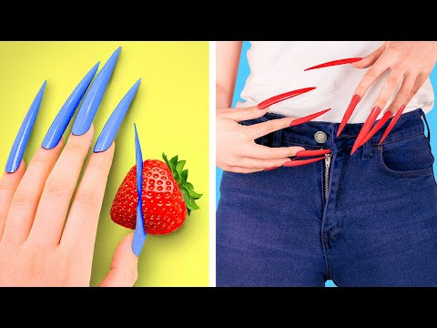 Girls Problems with Long Nails and Short Nails