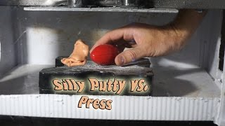 Silly Putty Crushed By Hydraulic Press | Non-Newtonian Fluid