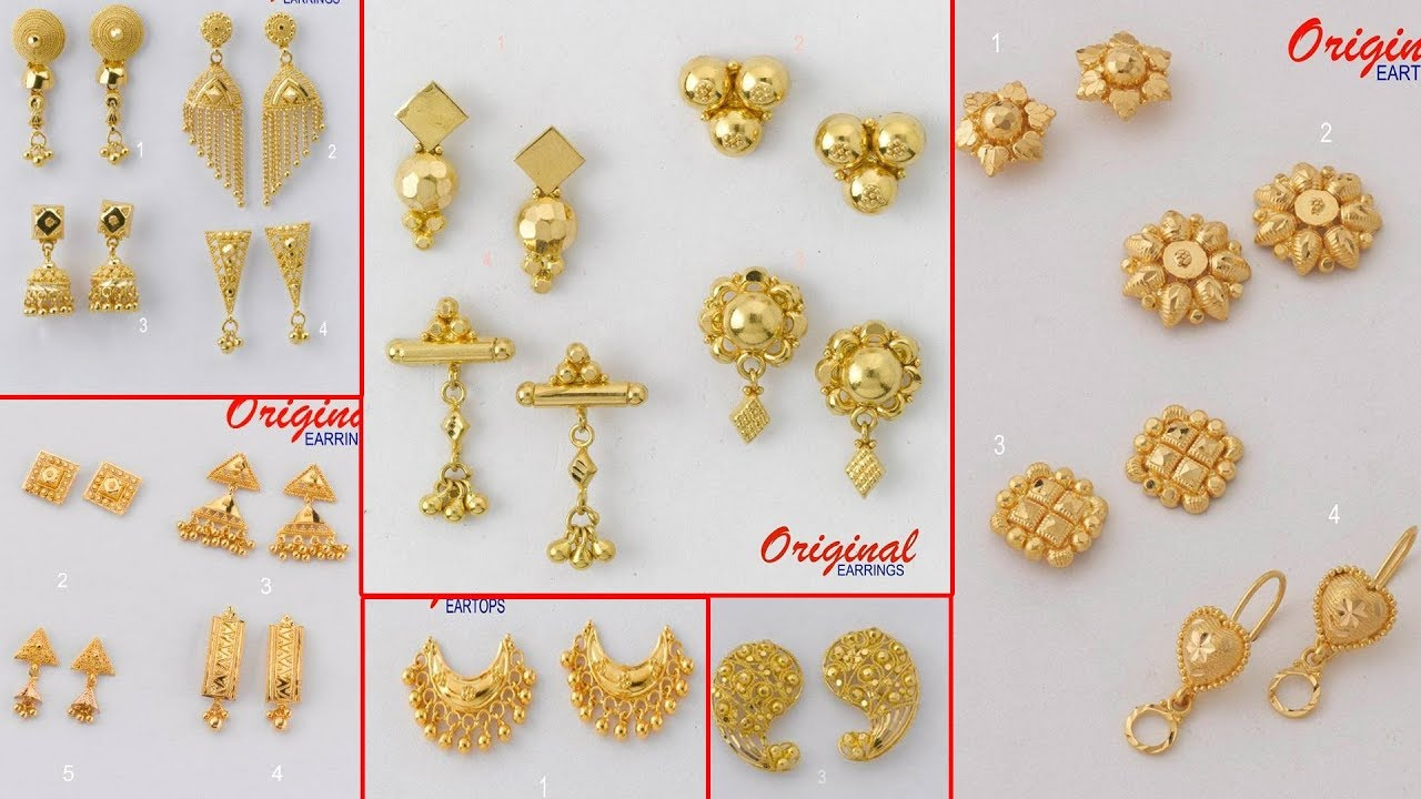 Latest Light Weight Gold Earrings And Ear Studs And Tops Designs T F Youtube,Designer Leather Boots