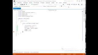 Видео урок №1 по программированию на языке C# Переменные и массивы