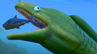 NEW GIANT EEL EATS THE MEG WHOLE!!! - Fish Feed Grow
