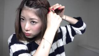 ねじるだけ前髪簡単アレンジ by milpate 女子のためのハッピーチャンネル