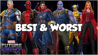 All Native Tier 2 Characters Ranked! 2018 List - Marvel Future Fight