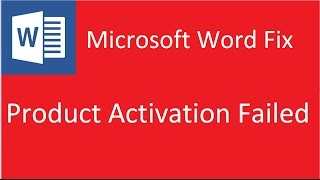 Product Activation Failed Microsoft Word 2010 Solution Youtube