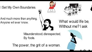 Inspirational Poem for Women - I Am A WOMAN, Hear Me ROAR!! in ANIMATION