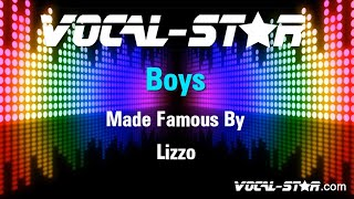 Lizzo - Boys (Karaoke Version) with Lyrics HD Vocal-Star Karaoke
