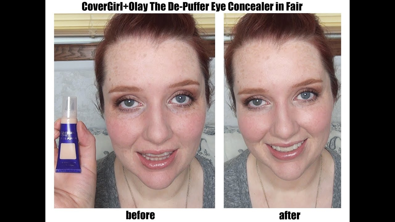 Review And Demo Of CoverGirl Olay The De Puffer Eye