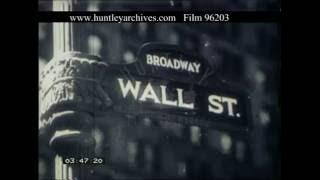 Wall Street New York During The Depression Era, 1920s - Film 96203