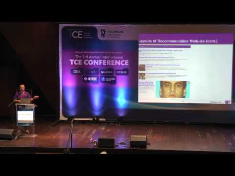 Ronny Lempel Yahoo Labs - Recommendation Challenges Web Media Settings - Technion Lecture
