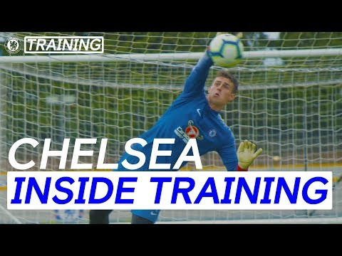 Arrizabalaga's Incredible Saves In First Training Session As A Blue | Inside Training