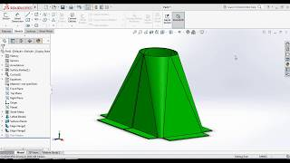 SolidWorks Tutorial -How to make Sheet metal hopper