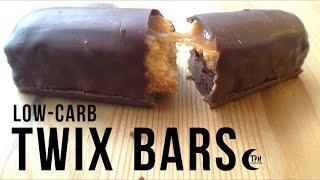 Keto Twix Bars | Low-Carb Caramel Shortbread Candy Bar | Sugar-Free Candy Bar Recipe