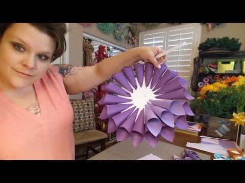 Paper Dahlia Wreath/Door Hanger