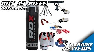 RDX 13 Piece Boxing Set 5ft Filled Heavy Punch Bag - Review