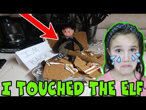 I Touched My Elf! Elf Breaks Gingerbread House! How To Restore Elf's Magic! Elf Caught Moving